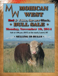 Click here for the November 10th 2014 Bull Sale Catalog