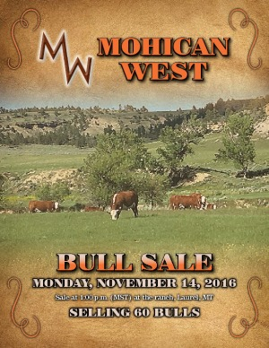 Mohican West presents Bull Sale Nov. 14, 2016